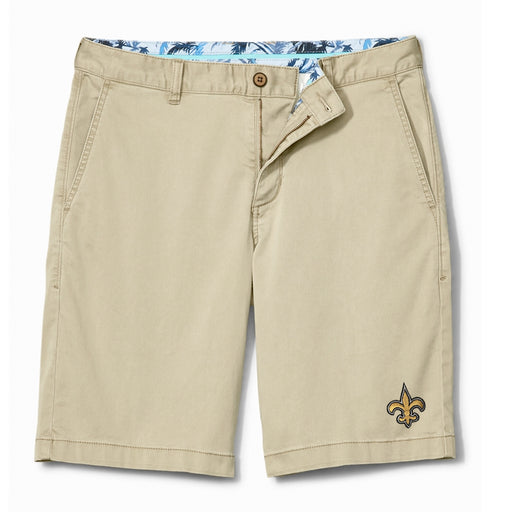 "New Orleans Saints Tommy Bahama Boracay 10"" Chino Short - Khaki"