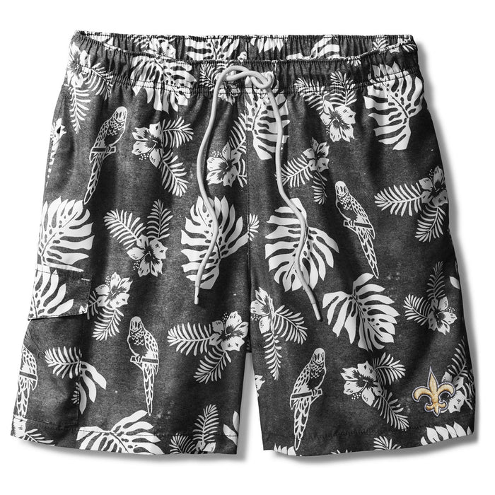 "New Orleans Saints Tommy Bahama Naples Parrot Paradise 6"" Swim Short"