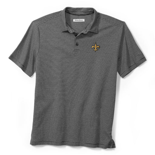 New Orleans Saints Tommy Bahama Pacific Shore Polo – Charcoal