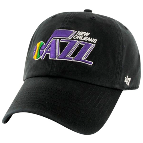 New Orleans Jazz 47 Hardwood Classic Clean Up Hat - Black