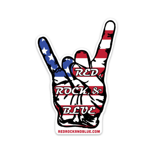 "Red Rock & Blue 4"" Die Cut Decal"