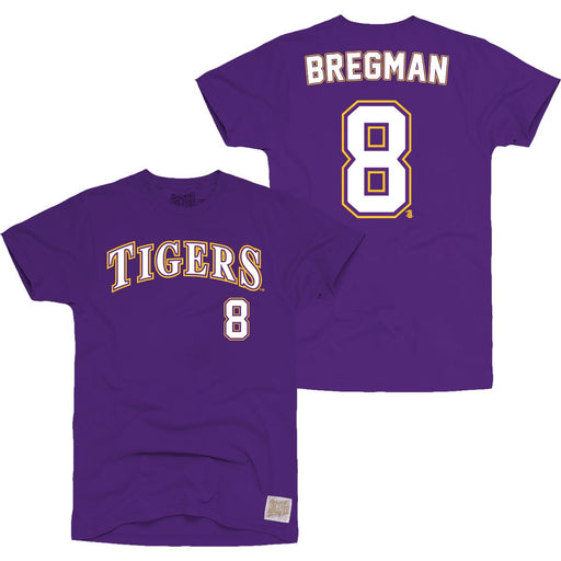 LSU Tigers Retro Brand Alex Bregman #8 Baseball Jersey T-Shirt