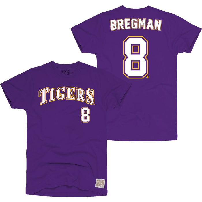 newest f6921 5a42d LSU Tigers Retro Brand Alex Bregman #8 Baseball Jersey T-Shirt