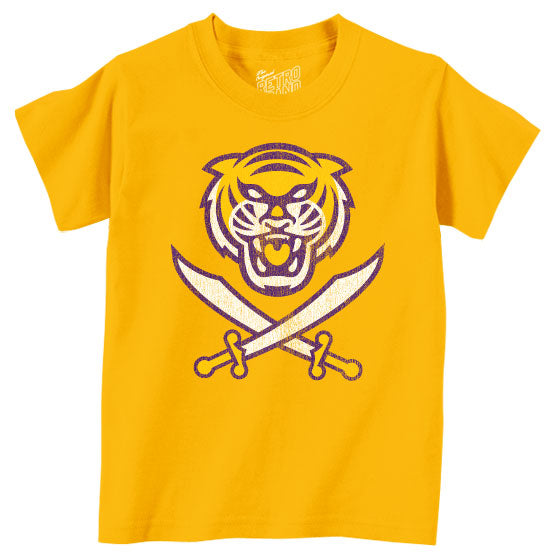 Bengals & Bandits Retro Brand Tri Color Toddler / Kids T-Shirt - Gold