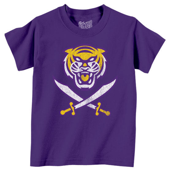 Bengals & Bandits Retro Brand Tri Color Toddler / Kids T-Shirt - Purple