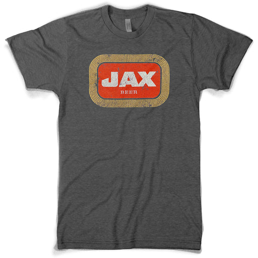 Southern Made Louisiana Jax Beer Label T-Shirt - Heather Charcoal
