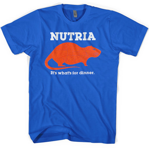 Southern Made Louisiana Nutria It's What's For Dinner T-Shirt - Royal Blue