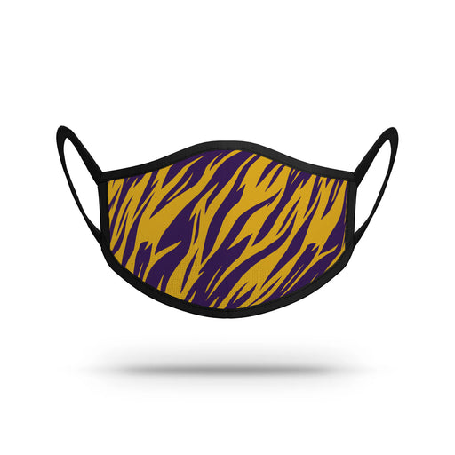 Strideline Tiger Stripe Resuable Adult Face Mask / Cover - Purple