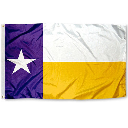 State of Texas 3' x 5' Flag -  Purple / Gold