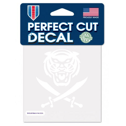 "Bengals & Bandits White Die Cut 4""x 4"" Perfect Cut Decal"