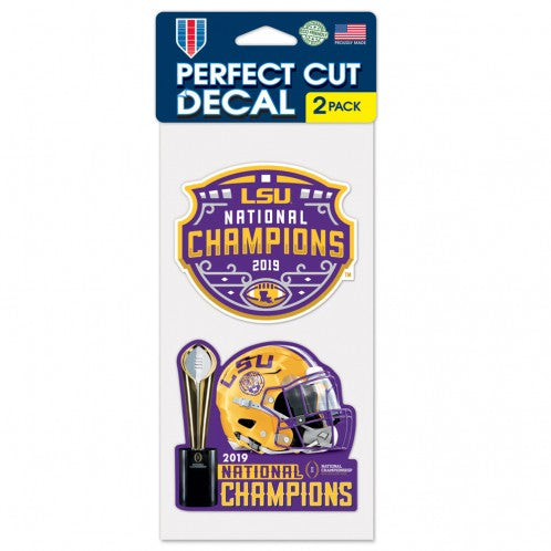 LSU Tigers 2019 National Champions 2 Pack Perfect Cut Decals