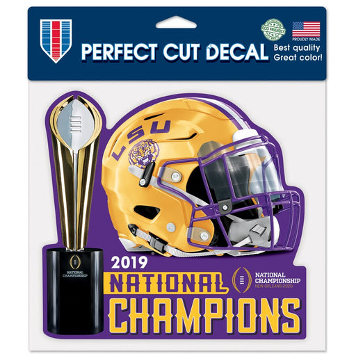 "LSU Tigers 2019 National Champions 8""x 8"" Perfect Cut Decal"