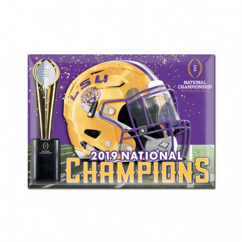 "LSU Tigers 2019 National Champions 2""x 3"" Fridge Magnet"