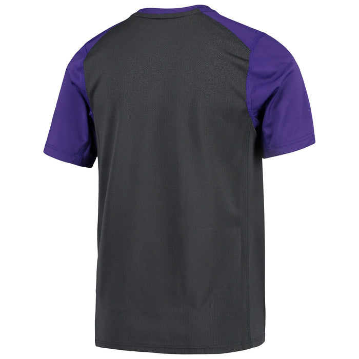 LSU Tigers Nike Youth Tiger Eye Miler Performance Mesh Back T-Shirt – Purple