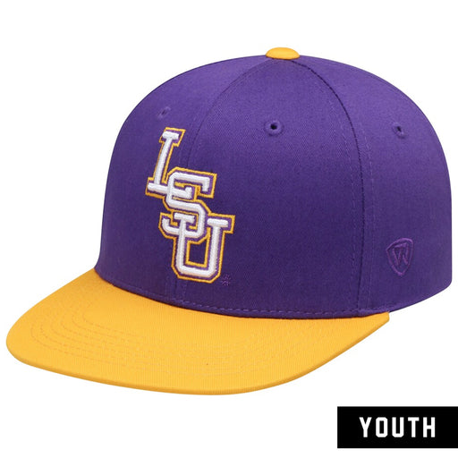 LSU Tigers Top Of The World Mavrick Youth Snapback Hat  - Purple