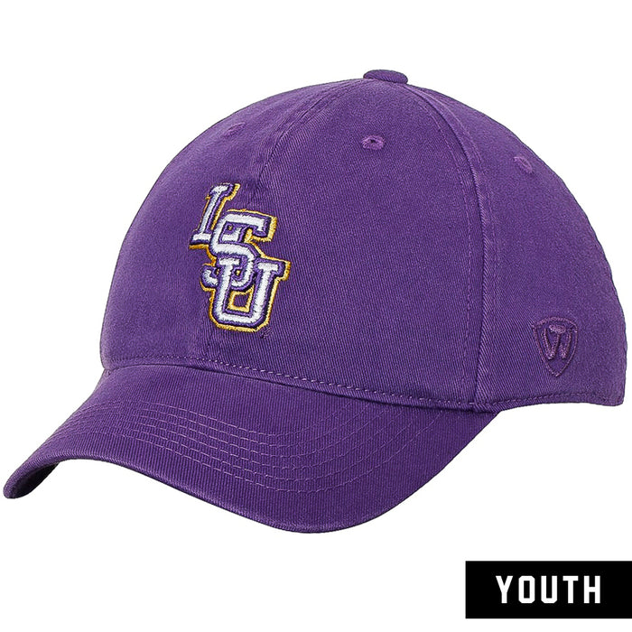 LSU Tigers Top Of The World Interlock The Rookie Youth Stretch Fit Hat - Purple