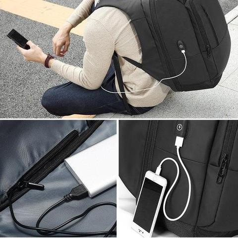 The Nomad Business Backpack USB Charging port