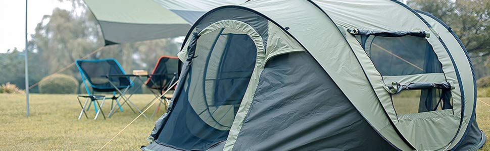 2 Person Instant Pop Up Camping Tent setup