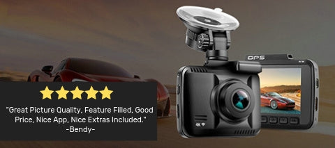 4K Dash Cam with GPS customer review