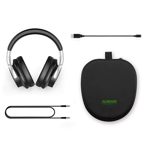 Active Noise Cancelling Bluetooth Headphones package contents