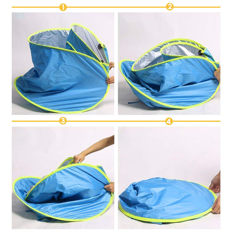 Baby Beach Tent - Sun Shelter For Babies setup