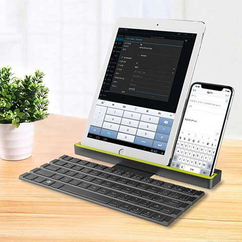 Bluetooth Folding Keyboard For Tablets multiple device connection