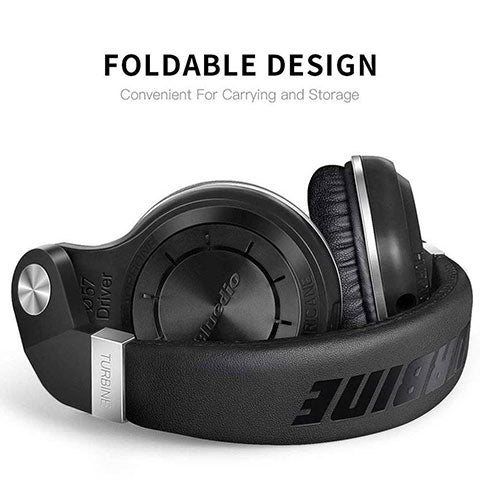 Bluetooth Over Ear Headphones With Mic compact folding design