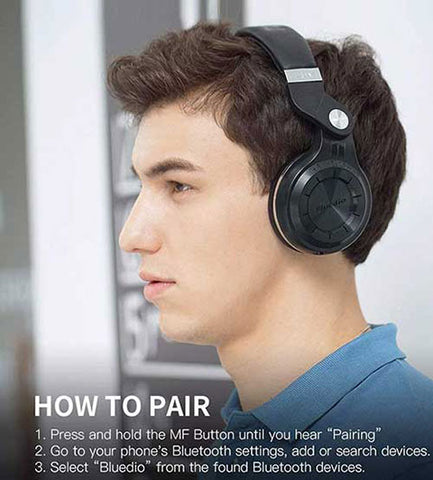 Bluetooth Over Ear Headphones With Mic easy pairing