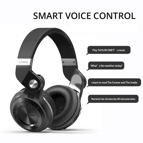 Bluetooth Over Ear Headphones With Mic smart voice control
