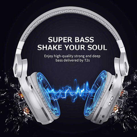 Bluetooth Over Ear Headphones With Mic soul shaking bass