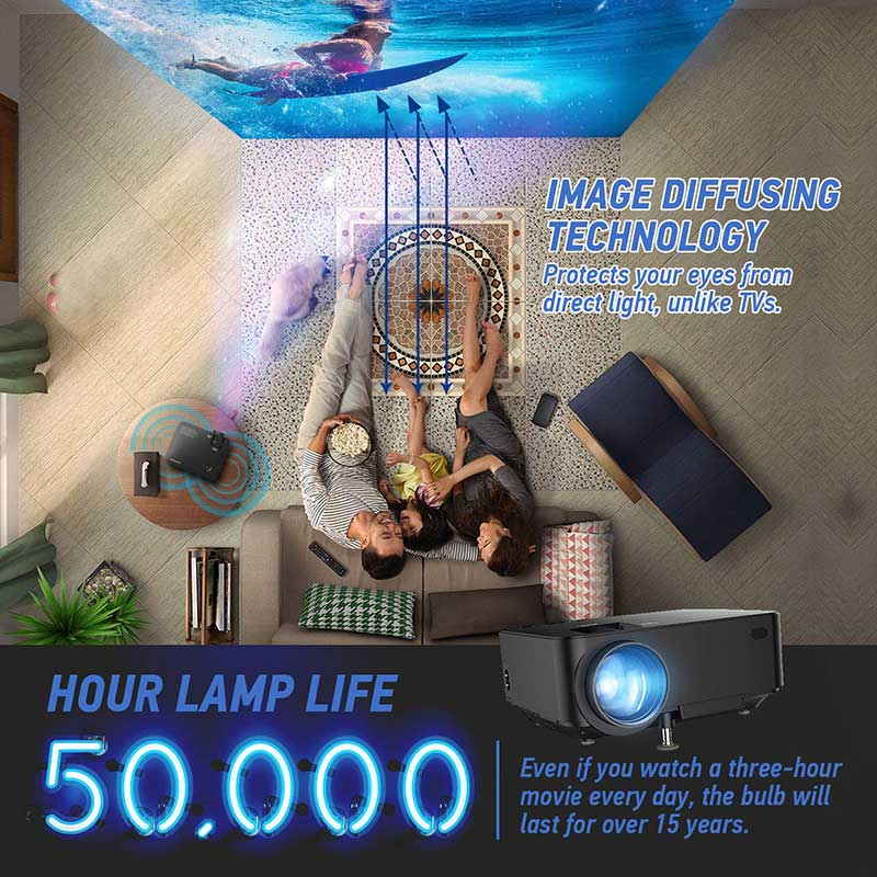 Home Projector 50000 hour lamp life