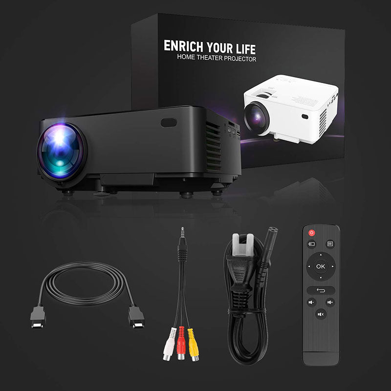 Home Projector package includes