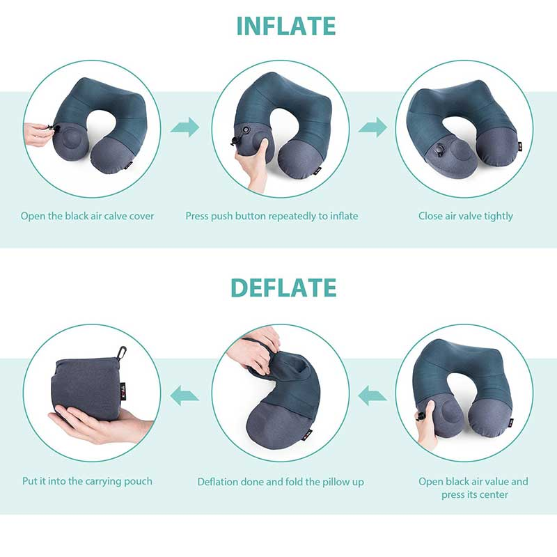 Inflatable Neck Pillow instructions