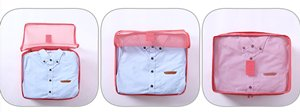 3 x Packing Cubes with Labels-watermelon