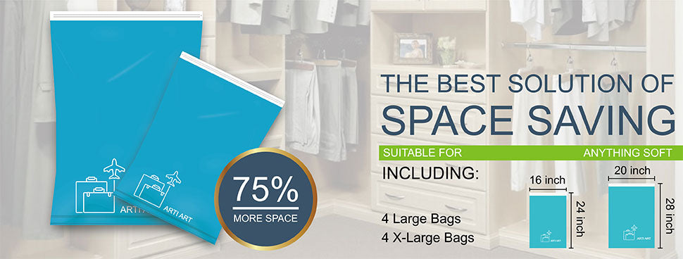 Luggage Compression Bags save up to 75 percent more space