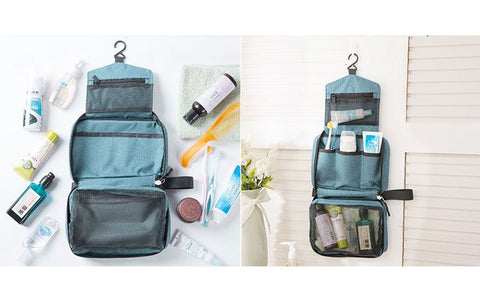 hanging-travel-toiletry-bag-opened-green