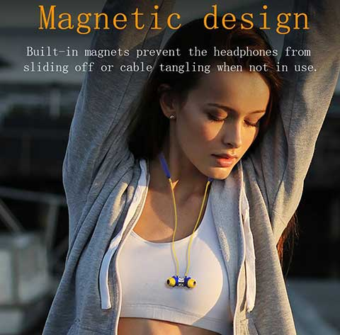 magnetic Noise Reduction Bluetooth Wireless Earbuds
