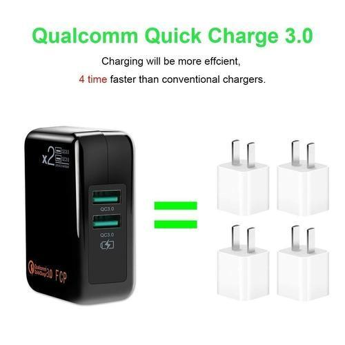 2 Port Quick Charge 3.0 Wall Adapter-Wall Charger-Nifty Drifter