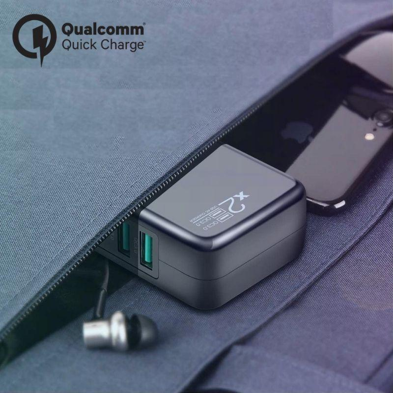 2 Port Quick Charge 3.0 Wall Adapter