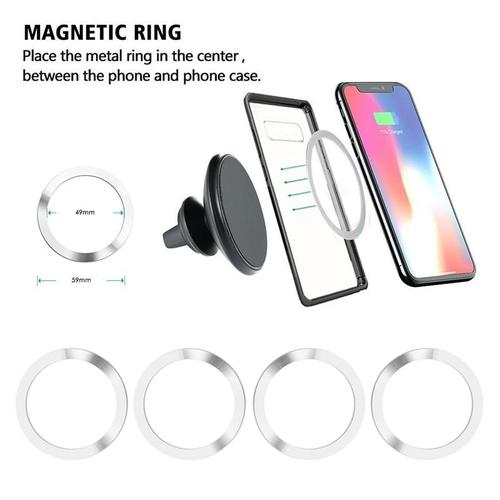4 Pack of 3M Adhesive Metal Rings for Magnetic Wireless Charger-Magnetic Mount Rings-Nifty Drifter