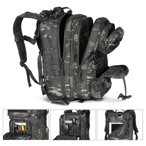 multiple compartments and pockets of Tactical Backpack
