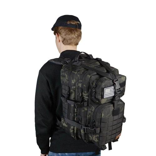 person wearing Tactical Backpack