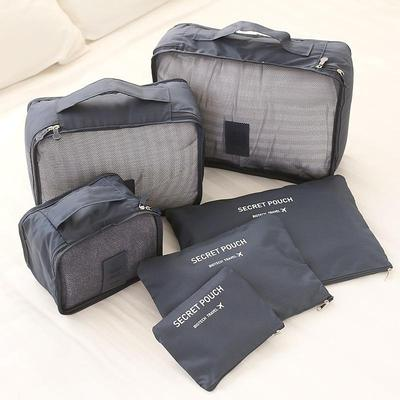 6 Piece Organized Travel Packing Cubes with Labels