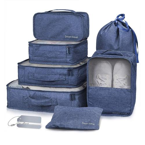 7 Piece Luggage Packing Cubes-Packing Cubes-Nifty Drifter-