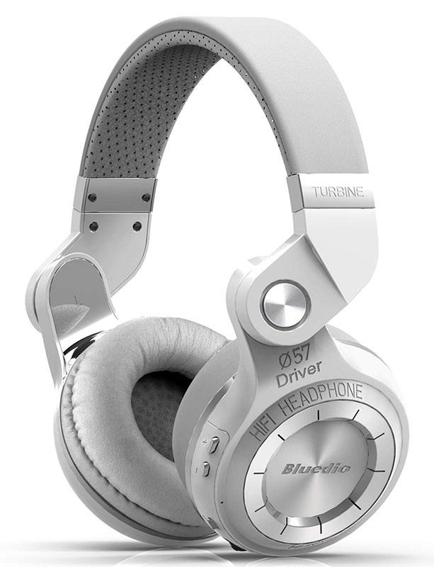Bluetooth Over Ear Headphones With Mic-Headphones-Nifty Drifter-White
