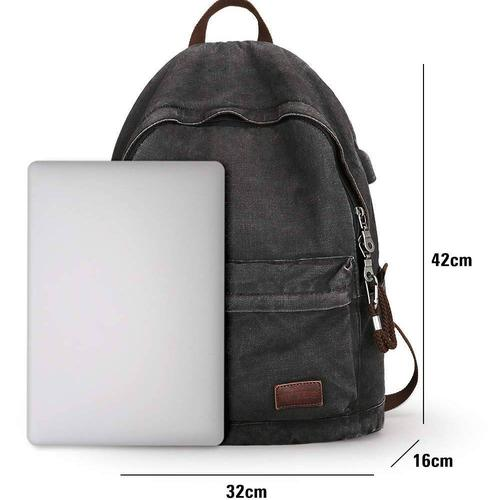 Canvas Laptop Backpack-Backpacks-Nifty Drifter-