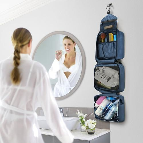 Compact Hanging Toiletry Bag for Men and Women-Toiletry Bag-Nifty Drifter