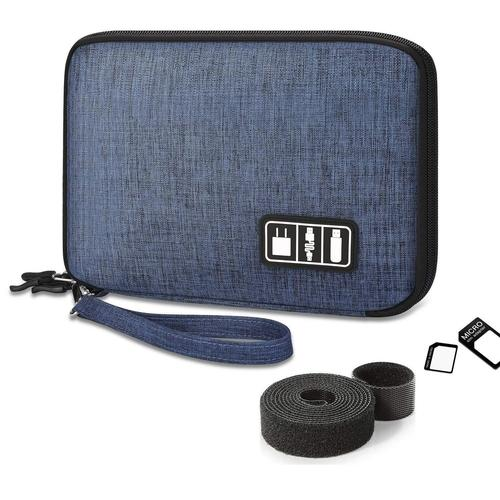 Double Layer Electronic Organizer-Organizer Bag-Nifty Drifter-Blue