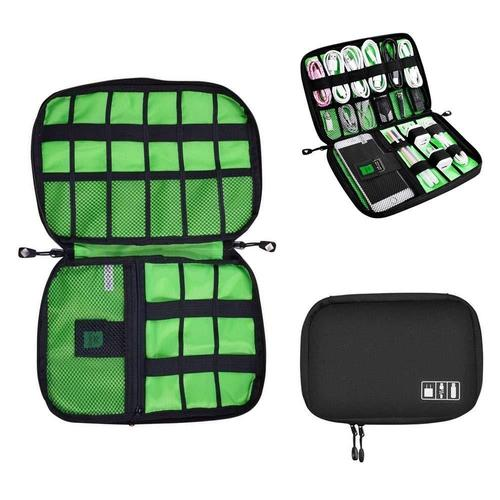 Electronic & Cable Organizer Bag-Organizer Bag-Nifty Drifter-Black