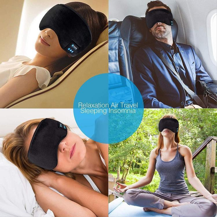 Eye Mask with Built-In Bluetooth Headphones-Sleep Mask-Nifty Drifter